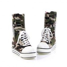 $20.28 Casual Women's Short Boots With Lace-Up and Army Green Design