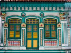 Peranakan Terrace House on Upper Weld Street, Little India
