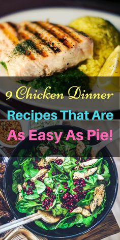9 great ways you can make an easy-peasy chicken dinner with just a few choice ingredients! https://withnaturalgusto.com/9-easy-chicken-recipes-for-dinner/ Food healthy, DIY food, DIY food Recipes, Recipes, Recipes Easy, Organic food, Chicken recipes, Chicken breast recipes, Chicken thigh recipes, Food recipes, Food recipes For dinner, Food recipes Easy, food recipes for dinner Chicken, food recipes for dinner Easy, food recipes for dinner families