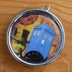 Steampunk Pocket Watch Pill Box Trinket Jewelry Case Dr Who Tardis Gun Metal | eBay