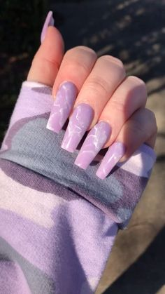 [Video] in 2020 Colourful Acrylic Nails, Marble Acrylic Nails, Simple Acrylic Nails, Summer Acrylic Nails, Best Acrylic Nails, Aycrlic Nails, Coffin Nails, Uñas Color Neon, Purple Nail Designs
