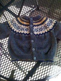 Dale Baby Cardigan by lynnhoffman, via Flickr
