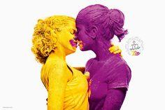 Zim Color mostra em campanha pela diversidade que o amor é colorido. / Love is Colourful by Zim Color.