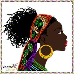Afrikanische Frau – Vektor – Vector Clipart Rafael – Join in the world Fashion Illustration Collage, Illustration Girl, African American Art, African Women, Black Women Art, Black Art, Afrique Art, African Art Paintings, African Masks