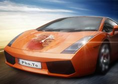 'Orange Lamborghini' photo template online: make some sport-themed makeover for your pictures Lamborghini Photos, Branding Materials, Sports Photos, Business Logo, Public Transport, Ferrari, Digital, Vehicles, Pictures