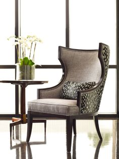 Taylor King manufactures handcrafted, custom upholstered furniture using the finest designer fabrics and leathers sourced from around the world. Transitional Chairs, Transitional Bathroom, Living Room Chairs, Living Room Furniture, Dining Chairs, Dining Room, King Furniture, Upholstered Furniture, Goods Home Furnishings