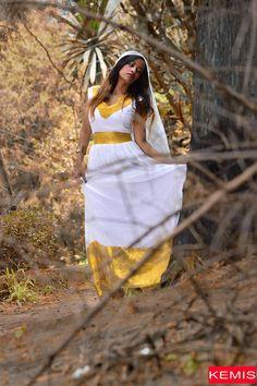 Ethiopian dresses traditional clothing biege habesha Kemisd