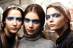 Gabriella Wimmer is spot on trend for Spring 2016, where hues of blue transcend everywhere from accessories to makeup. The eyes had it at Chanel where models sported washes of blue eyeshadow in the shape of bandit masks. Original! Chanel's All Blue Rhythm Collection was responsible for what is predicted for nailing the Spring 2016 blue eyed trend.