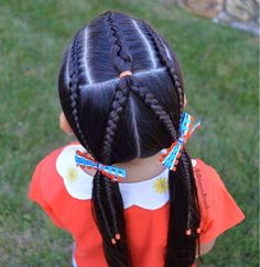 You need hairstyles that will work for your job, but still add your personality and style. Here are seven cute everyday hairstyles that you need to try out. Little Girl Hairdos, Lil Girl Hairstyles, Funky Hairstyles, Cool Haircuts, Weave Hairstyles, Teenage Hairstyles For School, Cute Everyday Hairstyles, School Hairstyles, Kid Braid Styles