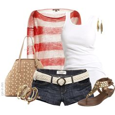 """""""Summer Stars and Stripes"""" by bln-in-mn on Polyvore"""
