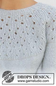 Cloud dancer / drops free knitting patterns by drops design Cardigan Au Crochet, Sweater Knitting Patterns, Knitting Designs, Knit Patterns, Knitting Projects, Knit Crochet, Knit Cowl, Hand Crochet, Drops Patterns
