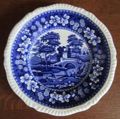 1940 Copeland SPODE'S BLUE TOWER bread plate