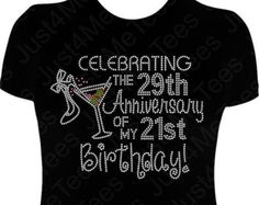 Birthday Shirt FIFTY And FABULOUS 50th Party Happy B Day Turning 50 Rhinestones Bling Tee