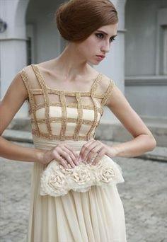 Beaded Grid Dress