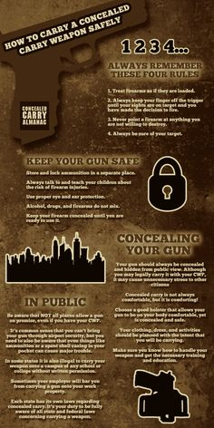 Concealed Carry Almanac : Safety should be at the top of your list when carrying a concealed carry firearm. Custom Glock, Survival, Self Defense Weapons, By Any Means Necessary, Home Defense, Cool Guns, Guns And Ammo, Girls Be Like, Firearms
