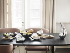 Buy Georg Jensen Bloom Bowl from our Decorative Bowls & Plates range at John Lewis & Partners. Aesthetic Design, Modern Design, Dining Set, Dining Bench, Stainless Steel Bowl, Design Language, Nordic Style, Decorative Bowls, Bloom