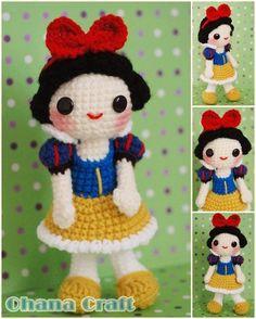 Ohana Craft: Snow White crochet amigurumi PDF Pattern