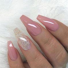 elegant purple glitter coffin nails inspirations +tips – page 25 – chic Nail Art Designs, Classy Nail Designs, Classy Nails, Trendy Nails, Stylish Nails, Perfect Nails, Gorgeous Nails, Fabulous Nails, Cute Acrylic Nails