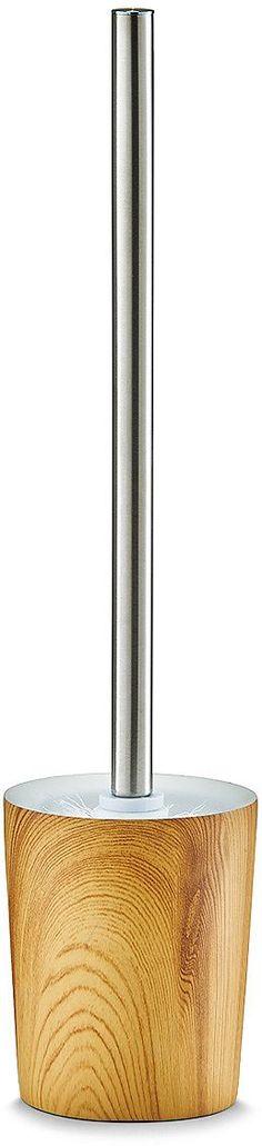 WC Bürste »Wood« Diese hochwertige WC-Bürste aus Kunststoff ist mit ihrem schlichten und zeitlosen Design ein Blickfang in jedem Badezimmer. Sie ist pflegeleicht und leicht zu reinigen. Der Bürstenkopf ist austauschbar. Erhältlich ist die WC-Bürste in verschiedenen Farben.Produktdetails:- Material: Polyresin Farbe: Holzdekor, Maße: ca. Ø9,5x41 cm,        Artikeldetails:  Modernes Design, Mit au...