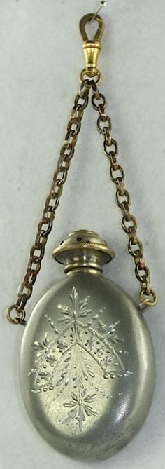 VICTORIAN ANTIQUE VINAIGRETTE CHATELAINE SCENT BOTTLE | eBay