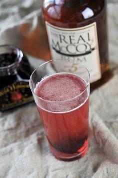 hibiscus ginger rum punch: hibiscus syrup, lemon juice, ginger, RUM, CANTON, lemon-lime sletzer