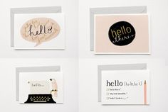 Well, hello! Simple stationery for those just-because notes. - Cool Mom Picks
