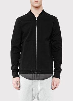 Knit Bomber Hybrid Jacket | ISAORA