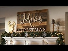 Reclaimed Wood Merry Christmas Sign - YouTube
