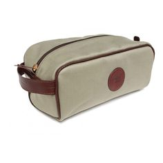 662ac9f843 Canvas and Leather Wash Bag