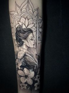 Geisha Tattoo For Men, Geisha Tattoo Sleeve, Japanese Geisha Tattoo, Geisha Tattoo Design, Japanese Tattoo Designs, Tattoo Designs For Women, Sleeve Tattoos, Geisha Tattoos, Cover Up Tattoos For Men