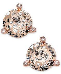kate spade new york Rose Gold-Tone Crystal and Stone Stud Earrings   macys.com