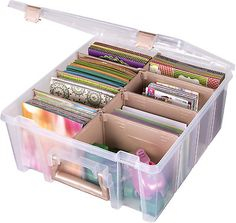 ArtBin Super Satchel Double Deep, Portable Art & Craft Organizer with Handle, Plastic Storage Case, Clear with Rose Gold Accents Craft Storage Containers, Craft Storage Solutions, Arts And Crafts Storage, Plastic Storage, Arts And Crafts Supplies, Storage Bins, Craft Storage Furniture, Art Supplies Storage, Marker Storage