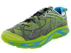 HOKA ONE ONE HUAKA Mens Running Shoes Size 13.5 NEW LIME ANTHRACITE CYAN