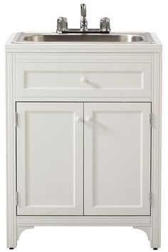 Ordered This For Our Laundry Area Martha Living Storage Utility Sink Cabinet