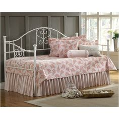 Hillsdale Lucy Daybed with Suspension Deck and Optional Trundle in White...for Abby's room?