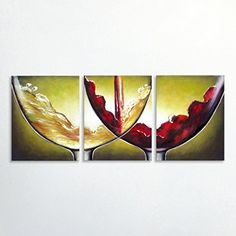 Gefii Art - 100% Hand-painted Abstract Painting the Wine and Bubbles Chase Wall Decor Landscape Paintings on Canvas 20x16 Inch X 3pcs/set Stretched and Framed Ready to Hang gefii http://www.amazon.com/dp/B00Q31QZ9U/ref=cm_sw_r_pi_dp_CMLEvb0S8ZBH8