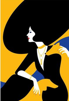 French-born, London-based illustrator Malika Favre's work is often described as being part pop art and part optical art –. French-born, London-based illustrator Malika Favre's work is often described as being part pop art and part optical art –. Art Deco Illustration, Graphic Illustration, Graphic Art, French Illustration, Illustration Styles, Woman Illustration, Portrait Illustration, Art Deco Posters, Vintage Posters