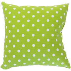 Majestic Home Goods Small Polka Dot Extra Large Pillow, Lime ($49) ❤ liked on Polyvore featuring home, home decor, throw pillows, pillows, lime green accent pillows, textured throw pillows, plush throw pillows, lime green home decor and lime green throw pillows