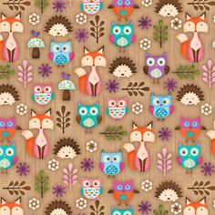 Novelty Cotton Fabric- Woodland Critters