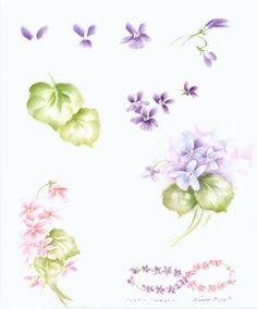 Olá amigos queridos,   Encontrei na internet, uma série de imagens com exercícios para pintura de flores e folhas e estou compartilhando com...