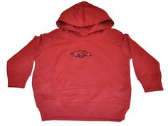 Arkansas Razorbacks TFA Toddler Crimson Fleece Hoodie Sweatshirt