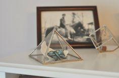Pyramid Display Box  large glass pyramid  jewelry by ABJglassworks, $55.00