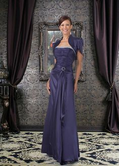 A-line Ankle-length Satin Mother's Dresses 13606521