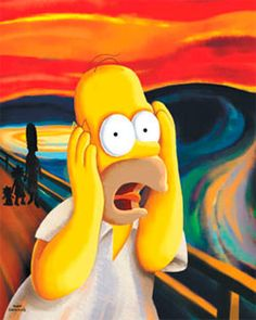The Scream - By Homer Simpson
