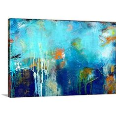 """Found it at AllModern - """"House of Blues"""" by Erin Ashley Gallery Painting Print on Wrapped Canvas"""