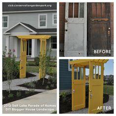 Recycled Vintage Door Arbor Tutorial