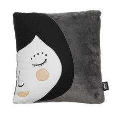 """Square cushion with Pepa design. The collection Back to Nest is designed in warm and soft fabrics. What makes this collection unique is that their fabrics were recovered from old footwear factories. Mix it with other cushions of this collection.  Cover: Pile fabric and polar fleece cover Size: 40x40 cm (15.6x15.6"""") Filling: Polyester Unremovable cover Grey back Designed and crafted in Spain with care by Paparajote Factory."""