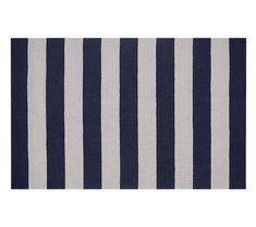 Rugby Rug, Navy & Grey