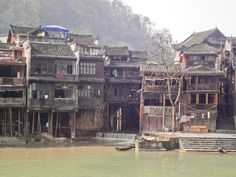 Fenghuang ancient town 凤凰 Lost City, Underwater, Mansions, House Styles, Manor Houses, Under The Water, Villas, Mansion, Palaces