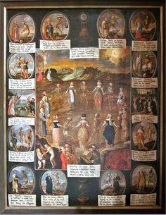 Dance of Death, St. Bernard of Siena Church, Cracow, the end of 18th century, photo: www.bernardyni.com.pl